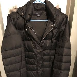Tommy Hilfiger Bubble Coat with fur trimmed hood